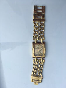 Gold plated Guess womens chain watch
