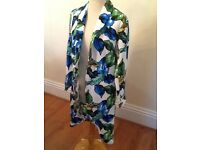 Size 12 Atmosphere leaf print coat New