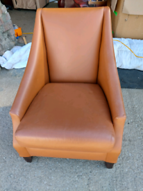 Chair - Quality Extra Comfy Stylish Brown Leather Chair. Very comfy ch