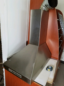Stainless steel commercial vent hood