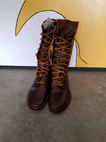 Leather boots unisex