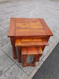 30. Oak nest of tables