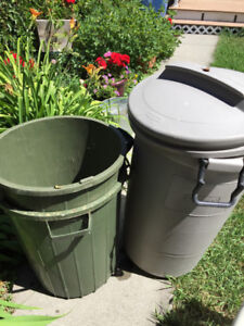 Garbage cans - three