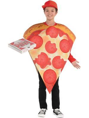 Child Comedy Pepperoni Pizza Slice New Fancy Dress Food Costume Tabard Novelty