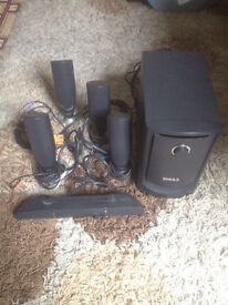 Dell sound bar complete system with sub woofer and 4 speakers take the lot for only £35