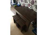 Used IKEA living room furniture and table with stools