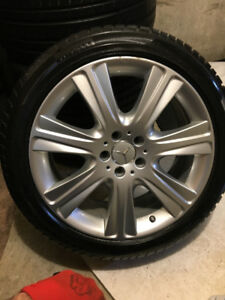 Mercedes S550 Winter(4) mags - 245-45-19 Pirelli Sotto3 like new