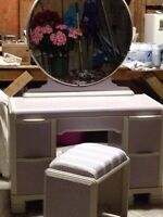 Gorgeous Antique Vanity Set in French Lilac $ 175