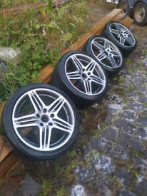 Porsche 997 turbo gen 1 wheels and tyres.