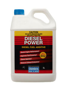 Chemtech Diesel Power DIESEL Fuel Additive Improve Economy Reduce Noise 5 Liter