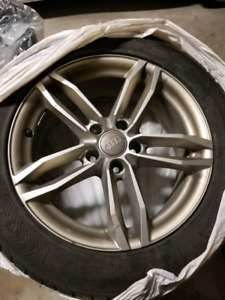 Audi rims and tires winter from an s5 225 55 17