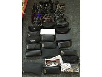 40 pairs of designer sunglasses Rayban Oakley etc
