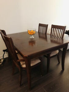 Beautiful distressed wooden dining table $220