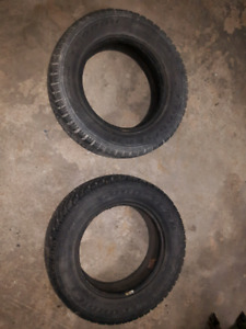 **PAIR OF 205/65R15 GOODYEAR SNOW TIRES **