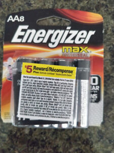 NEW 8 AA batteries, energizer pick up downtown vancouver