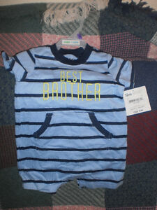 NEW w/ tag  boys summer Best Brother by Carters 12m