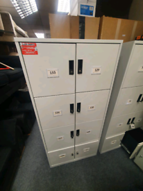 Tall personal bank of lockers all with keys £125