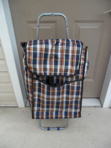 Wheeled Shopping Cart / Newspaper Delivery Cart