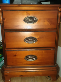 Antique solid wood Bedside Cabinet twin set