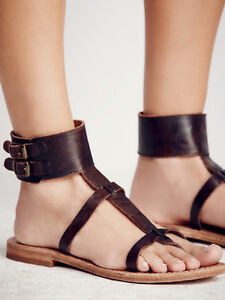 new free people baja cuff sandals 8 genuine leather