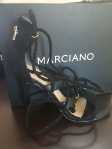 Marciano black tie up shoes