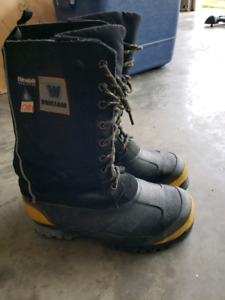Winter safety boots used