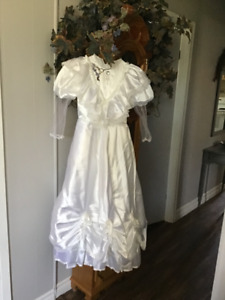 First communion dress and mother of the bride