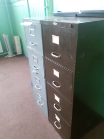 Vintage retro industrial art metal filing cabinet