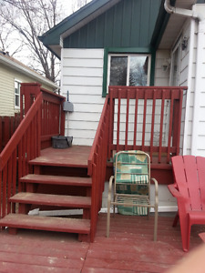 Furnished one bedroom basement apartment Available on Apr.1