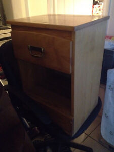 BEDSIDE TABLE WITH DRAWERS- excellent condition