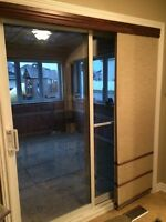 Patio Door and drapes