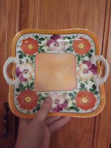 Hand Painted Square Barvaria Serving plate
