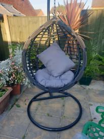 Garden rattan swing egg chair