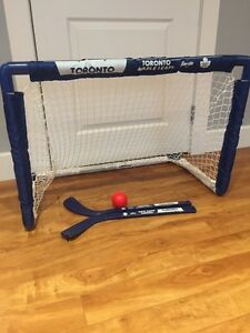 Toronto Maple Leaf toddler hockey net and sticks