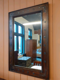 Barker and stonehouse reclaimed oak mirror