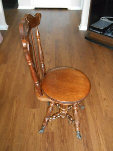 Antique Stool (for piano or kitchen or den or...)