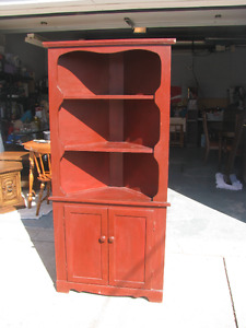 SOLID WOOD CORNER CABINET GREAT FOR PAINTING
