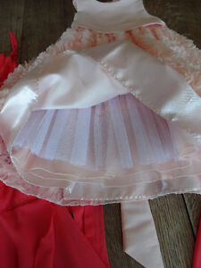 Like New two FLOWER GIRL DRESSES Size 6X Light Peach / Pink Cambridge Kitchener Area image 7