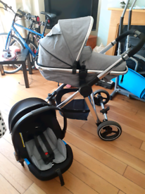 Travels system pram and car seat