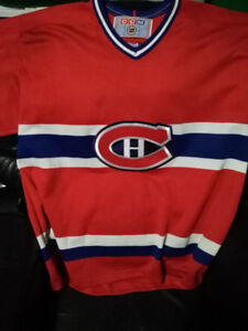 TWO CCM OFFICIAL JERSEY'S