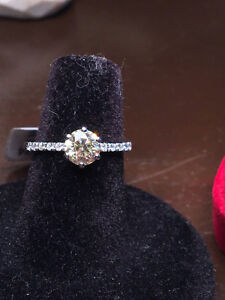 New 0.93ct Fancy Yellow Engagement Diaomd Ring