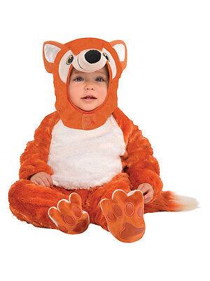 Kids Furry Fox Costume Boy Girl Animal Book Week Day 0-24 Months Fancy Dress - Boys Fox Costume