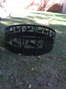 36 x 13 Campside Fire Ring, with Deer Design