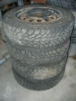185/65/14 Goodyear Nordic Winter Tires on 4x100mm Steels