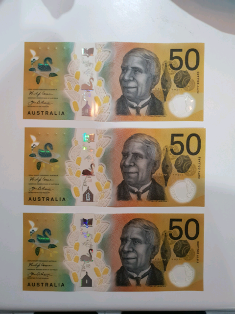 New Prefix 50 Dollar Note Collectables Gumtree