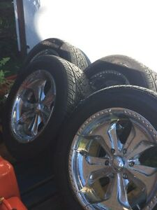 "20"" chrom rims with tires 175/55r/20"