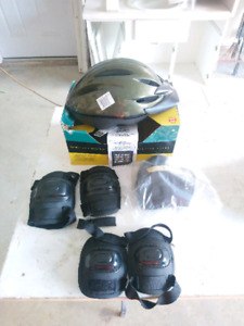Biking/cycling safety set helmet and pads