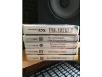 various 3DS games, mario bros 2, super mario 3d land, ocarina of time, link between worlds, FF IV