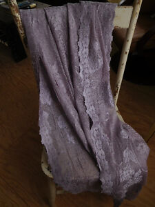 Grey-mauve Lace fabric for drapes, bedding, bridal or lingerie