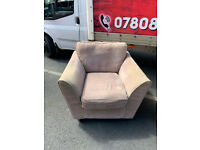 Armchair and matching puffee £75